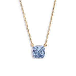 kate spade square pavé pendant necklace